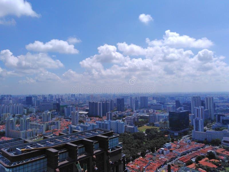 Vista a?rea de la ciudad de Singapur fotos de archivo