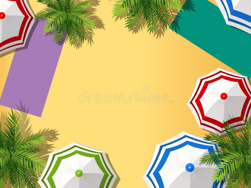 Vista a?rea de la playa stock de ilustración