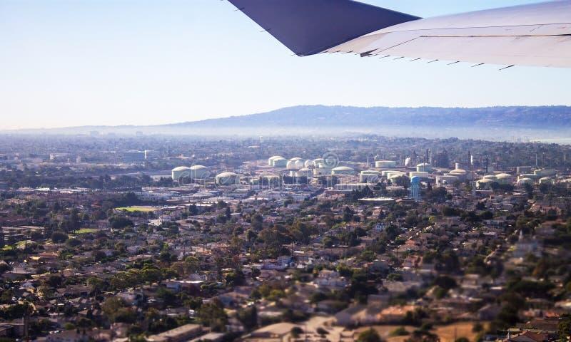 Vista a?rea de Los Angeles imagens de stock royalty free