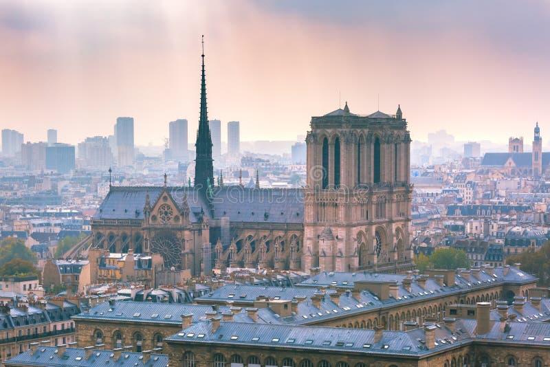 Vista a?rea de Paris, France fotografia de stock royalty free