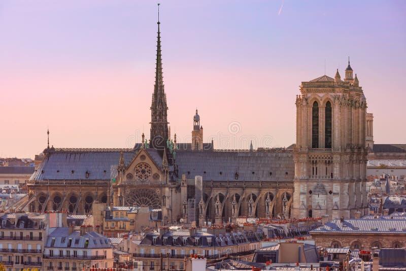 Vista a?rea de Paris, France imagem de stock