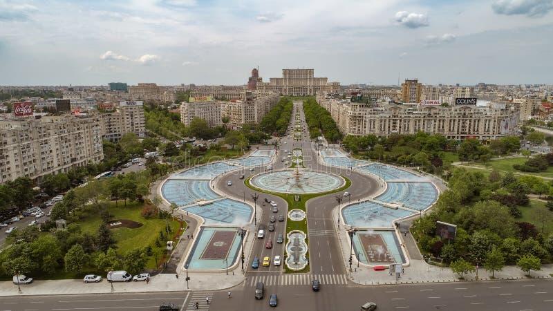 Vista a?rea del centro de la ciudad de Bucarest fotografía de archivo