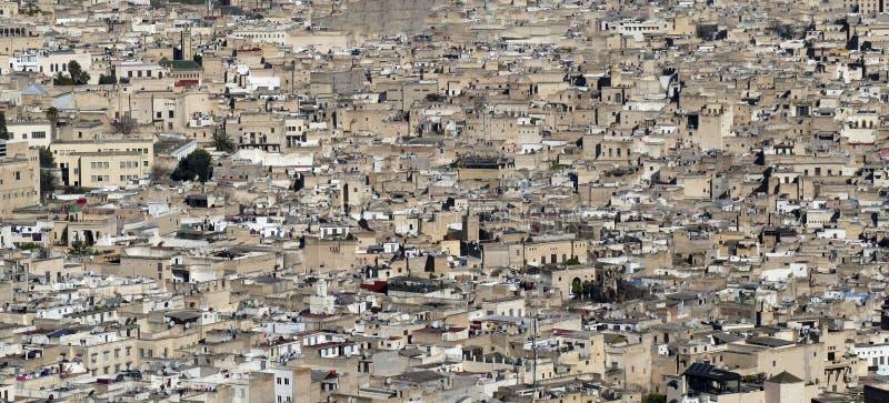 Vista a?rea del Medina firmemente lleno imagenes de archivo