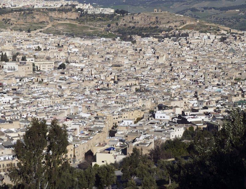 Vista a?rea del Medina firmemente lleno imágenes de archivo libres de regalías