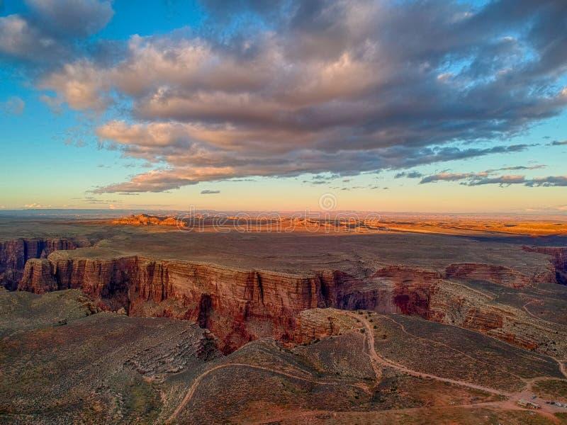 Vista a?rea do desfiladeiro do Little Colorado River do Arizona fotos de stock royalty free