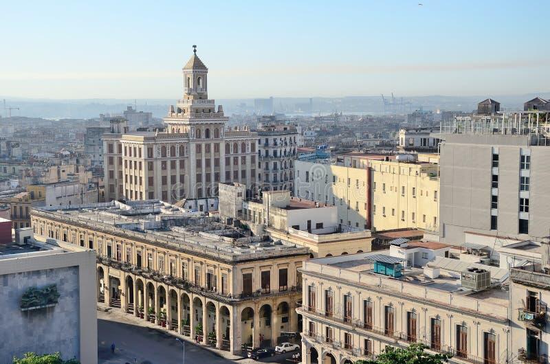 Vista regional aos telhados de Havana fotografia de stock