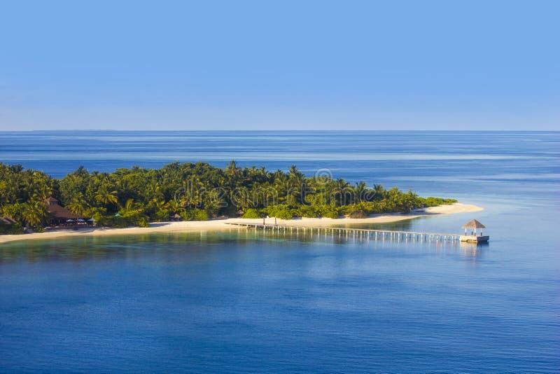 Vista regional de atóis maldivos, Eden na terra imagens de stock royalty free
