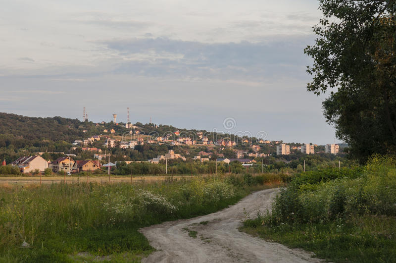 Vista residenziale di Tirgu-Mures/Marosvasarhely/Egna immagini stock libere da diritti
