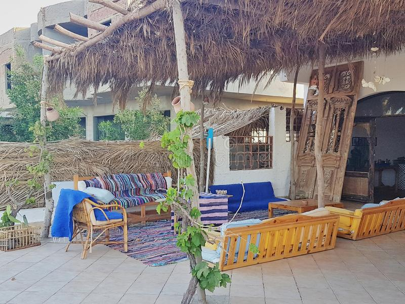 Vista Rihana Guest House, Marsa Alam del mare immagine stock