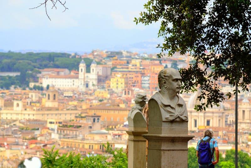 Vista Roma Italia de la colina de Janiculum imágenes de archivo libres de regalías