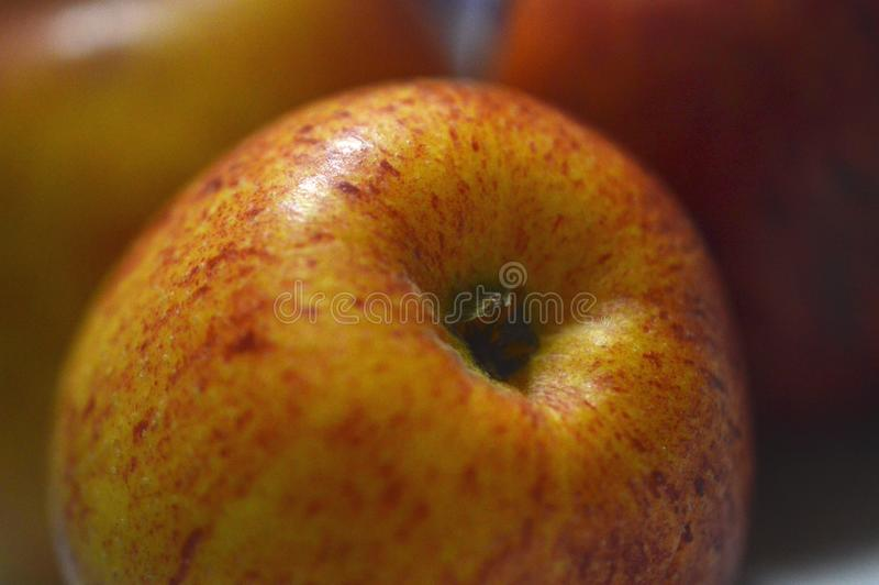 Vista rossa fresca di macro delle mele fotografia stock