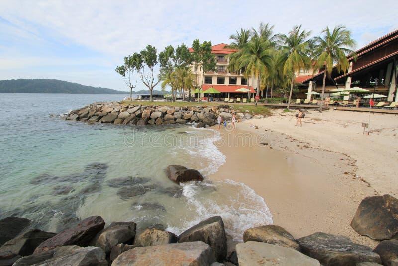 Vista in Sabah in Malesia immagini stock libere da diritti