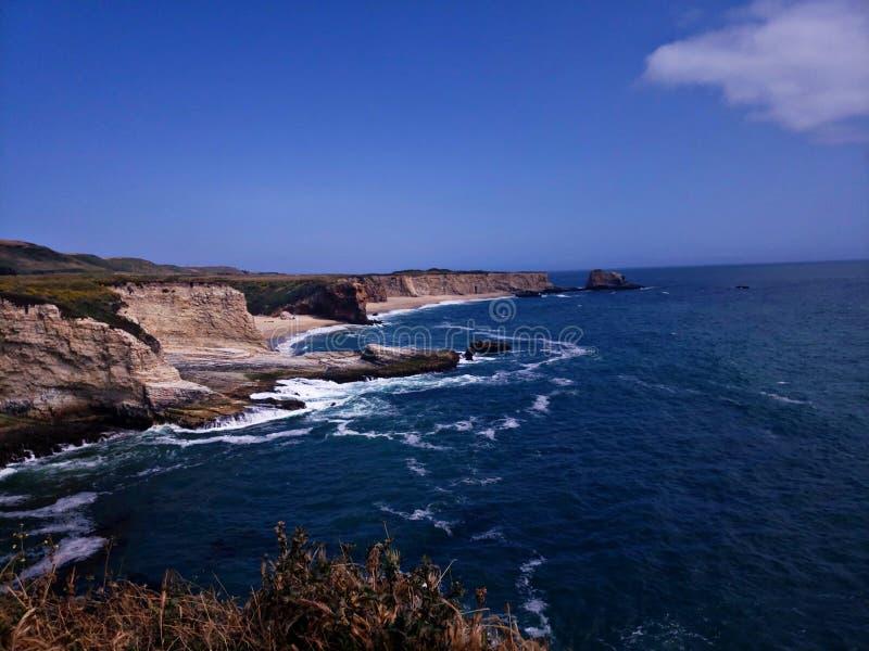 Vista Santa Cruz California della spiaggia fotografia stock