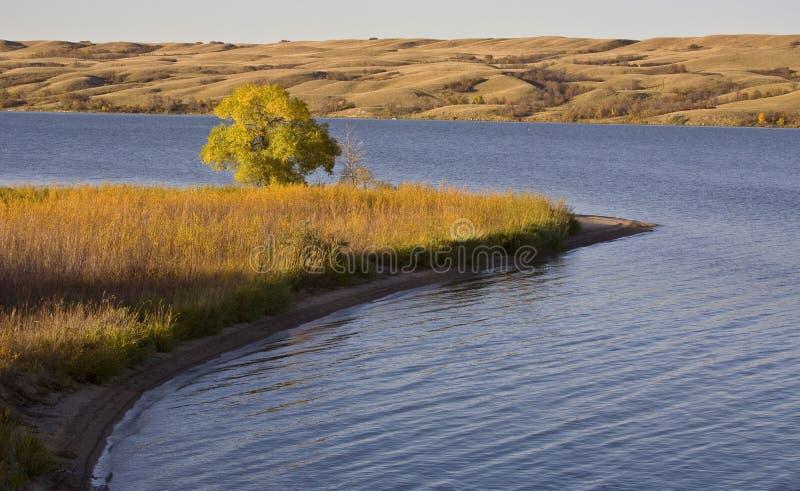 Vista Saskatchewan di autunno fotografie stock