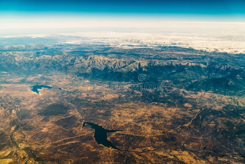 Vista satellite dell'orizzonte della terra immagine stock libera da diritti