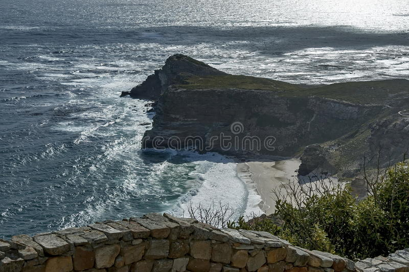 Vista scenica al Capo di Buona Speranza immagine stock libera da diritti