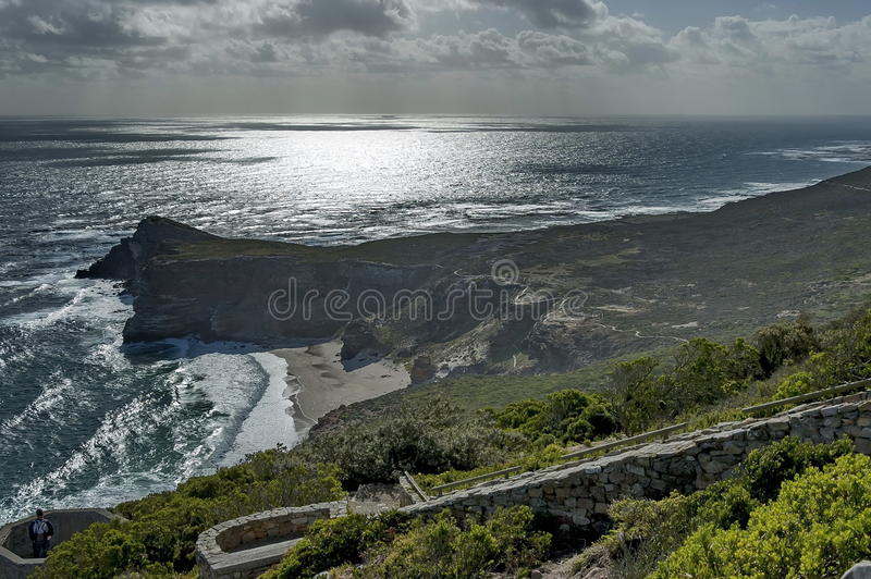 Vista scenica al Capo di Buona Speranza fotografia stock