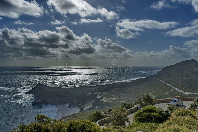 Vista scenica al Capo di Buona Speranza fotografia stock libera da diritti
