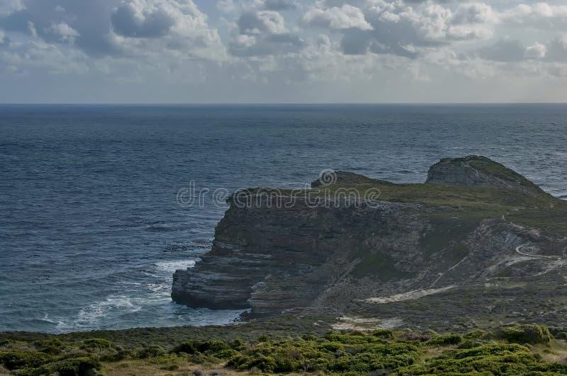Vista scenica al Capo di Buona Speranza immagini stock libere da diritti