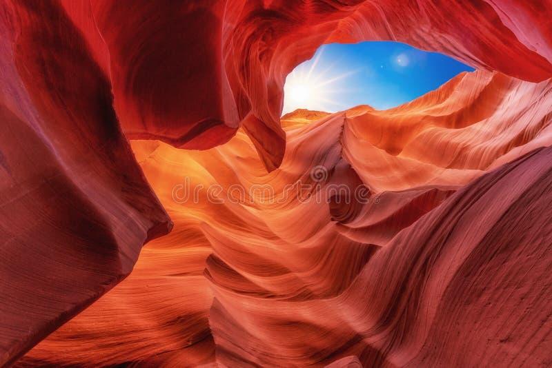 Vista scenica all'antilope del canyon vicino alla pagina, Arizona U.S.A. immagine stock