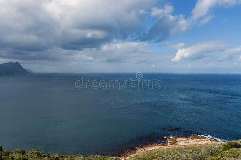 Vista scenica alla baia ed alla penisola del Capo false immagine stock libera da diritti