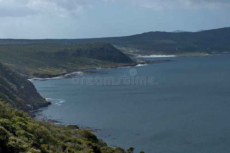 Vista scenica alla baia ed alla penisola del Capo false fotografie stock libere da diritti
