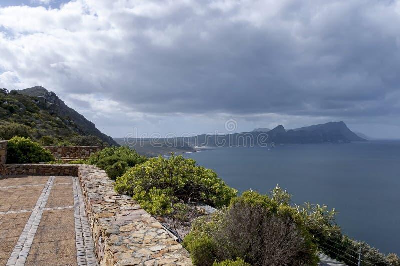 Vista scenica alla baia falsa dal Capo di Buona Speranza fotografia stock