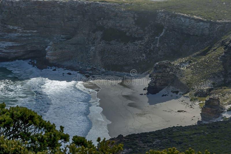 Vista scenica alla spiaggia di Diaz fotografia stock libera da diritti