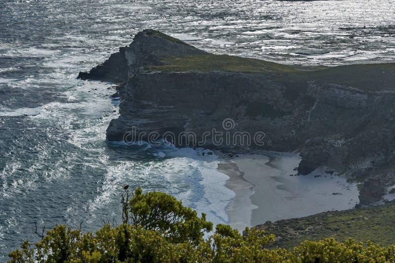 Vista scenica alla spiaggia di Diaz del Capo di Buona Speranza fotografia stock libera da diritti