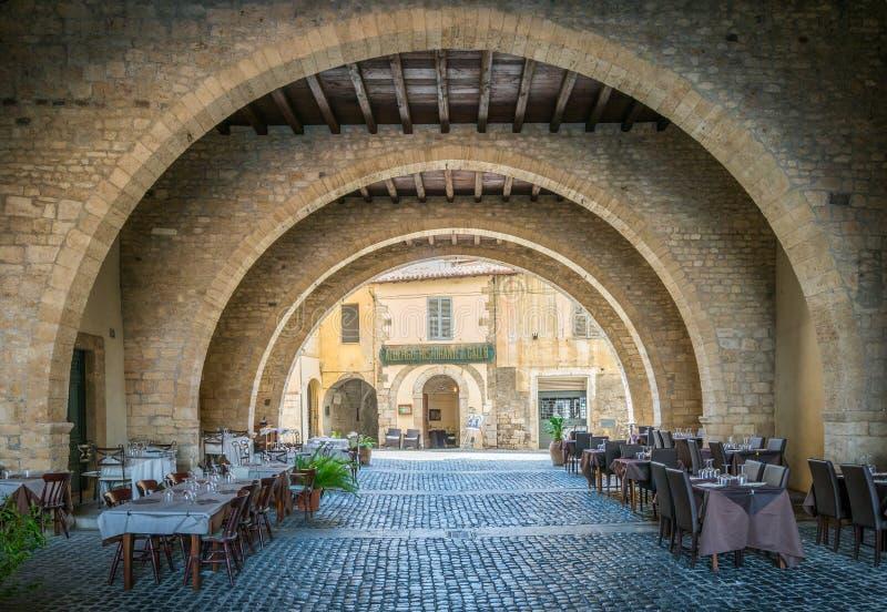 Vista scenica in Anagni, provincia di Frosinone, Lazio, Italia centrale fotografia stock