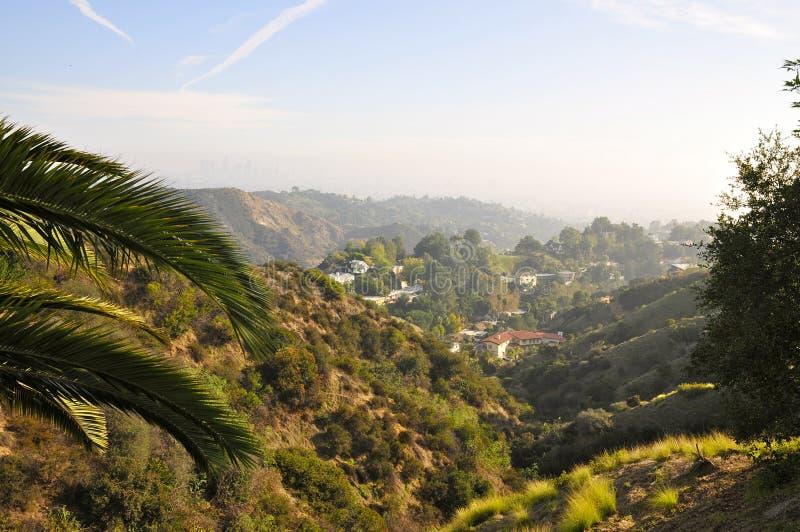 Vista scenica da Hollywood Hills immagini stock libere da diritti