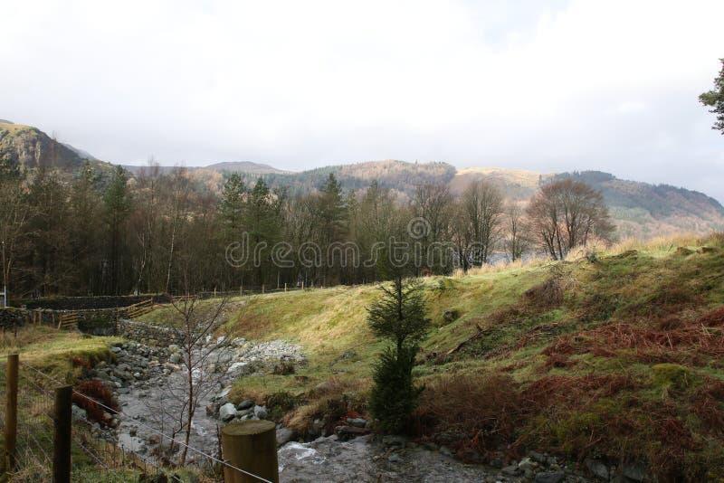 Vista scenica del distretto inglese del lago immagini stock libere da diritti