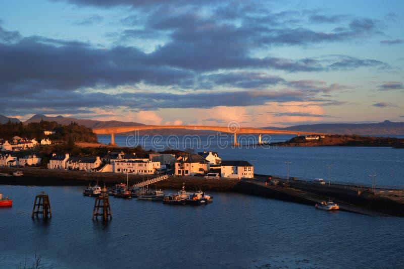 Vista scenica del porto immagini stock libere da diritti