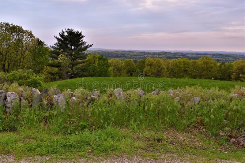 Vista scenica del rifugio nazionale di Oxbow Wildlfe preso da Harvard, Massachusetts, Stati Uniti immagini stock libere da diritti