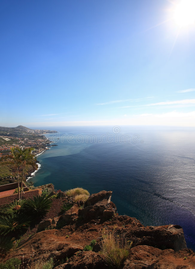 Vista scenica dell'isola della Madera fotografie stock