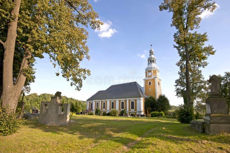 Vista scenica della chiesa immagini stock libere da diritti