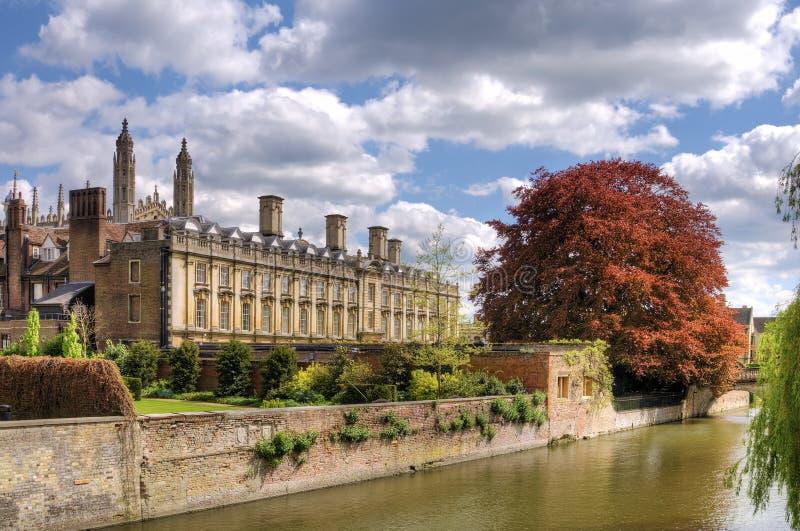 Vista scenica della città di Cambridge fotografie stock libere da diritti
