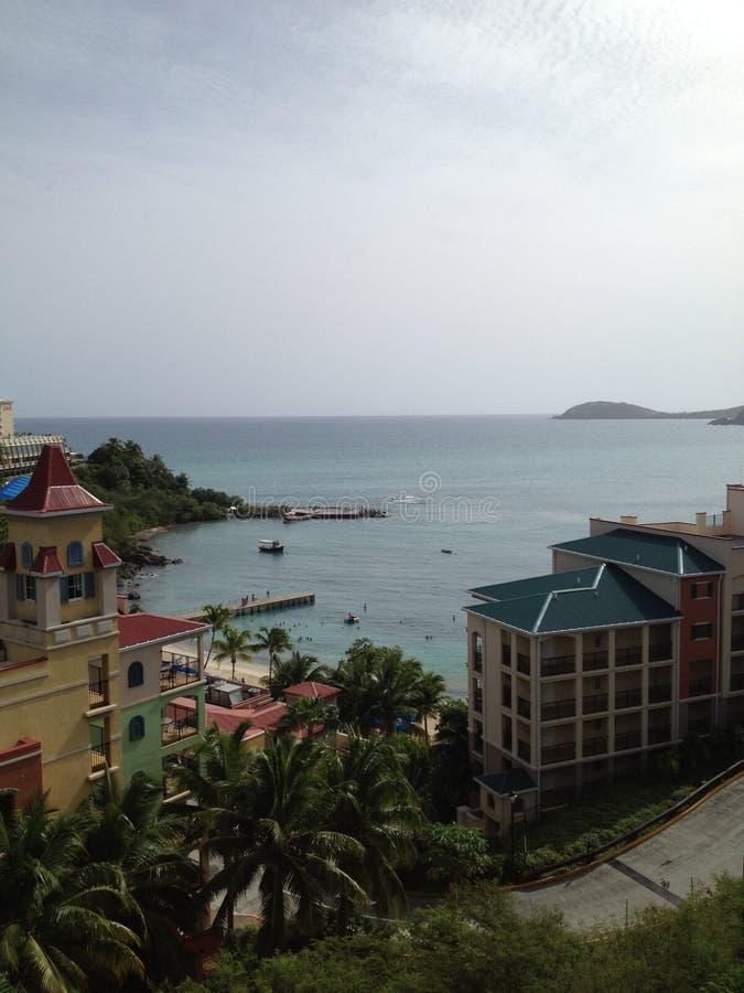 Vista scenica della località di soggiorno a St Thomas immagine stock