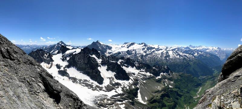 Vista scenica della montagna Titlis fotografia stock