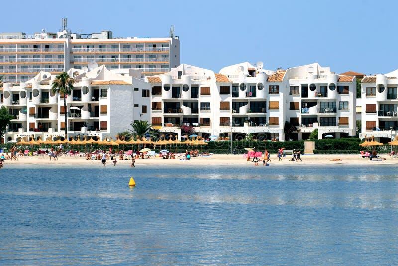 Vista scenica della spiaggia di Alcudia fotografie stock libere da diritti