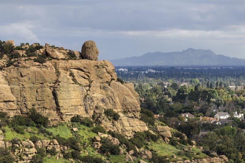 Vista scenica della tempesta di Stoney Point Los Angeles Spring fotografie stock libere da diritti