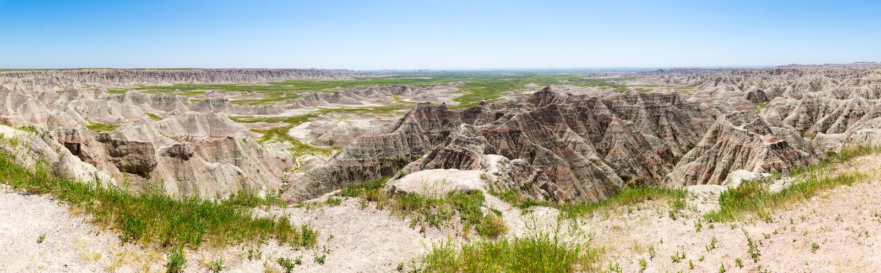 Vista scenica delle formazioni rocciose nel giorno soleggiato fotografia stock libera da diritti