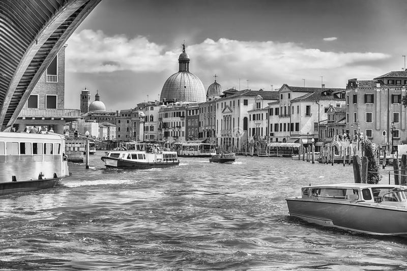 Vista scenica di Grand Canal a Venezia, Italia immagini stock