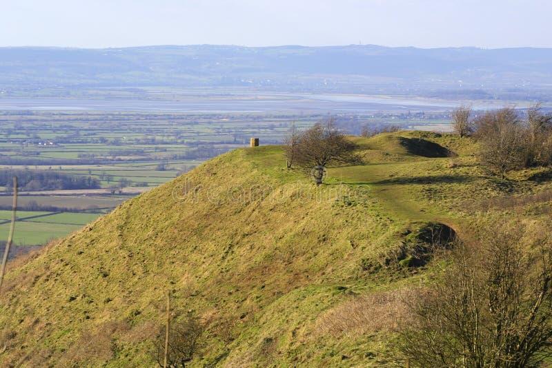 Vista scenica di Severn Vale - di Gloucestershire fotografia stock libera da diritti