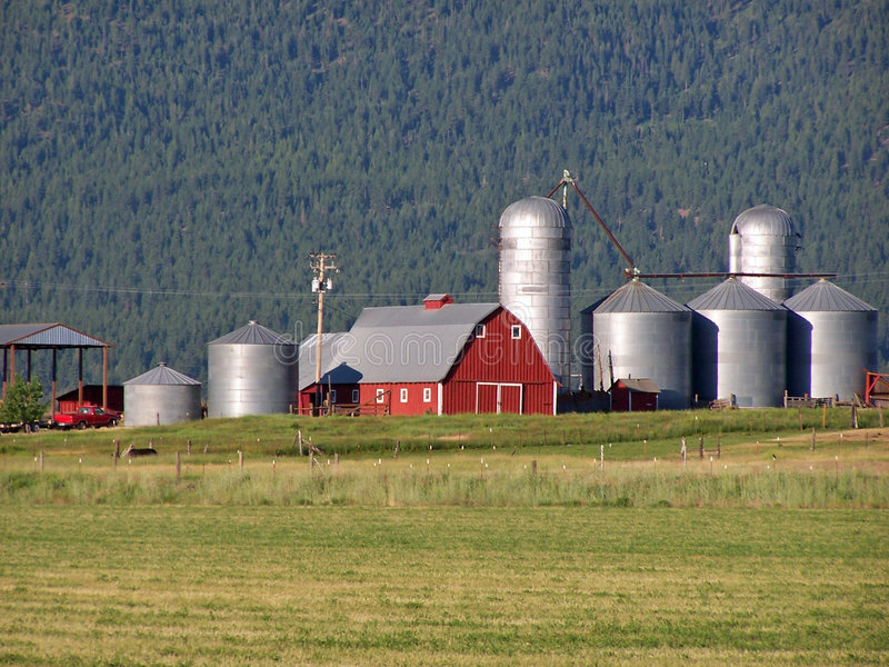 Vista scenica di un ranch dell'Oregon. immagini stock libere da diritti