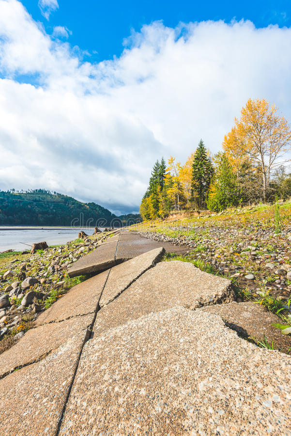 Vista scenica in Rocky Point Campground quando stagione di autunno fotografia stock libera da diritti