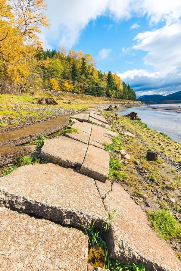 Vista scenica in Rocky Point Campground quando stagione di autunno fotografie stock