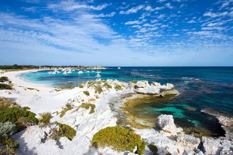 Vista scenica sopra l'isola di Rottnest fotografia stock libera da diritti