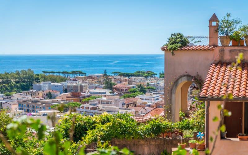 Vista scenica in Terracina, provincia di Latina, Lazio, Italia centrale immagine stock libera da diritti