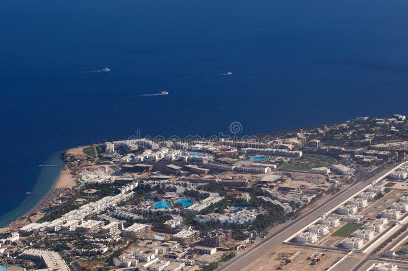 Vista a Sharm El-Sheikh imagem de stock